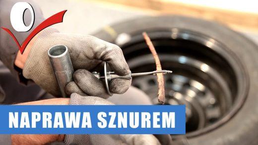 Jak naprawić przebitą oponę sznurem?
